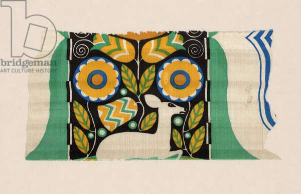 Waldidyll (Forest Idyll) (dress or furnishing fabric), 1910-11 (silk, plain weave; screen printed)