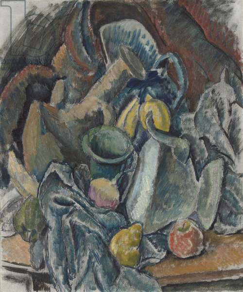 Still Life, 1911 (oil with charcoal or chalk on canvas)