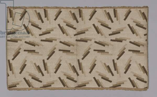 Le Cigar, 1920s-30s (rayon, two-colour complementary weft twill weave self-patterned by areas of plain and twill interlacing)
