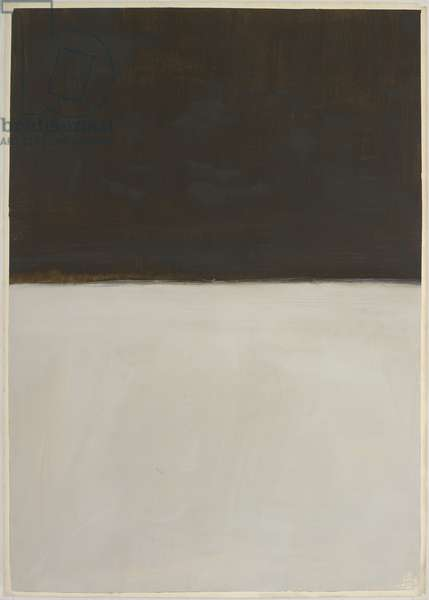Untitled (Brown and Grey), 1969 (acrylic on paper)