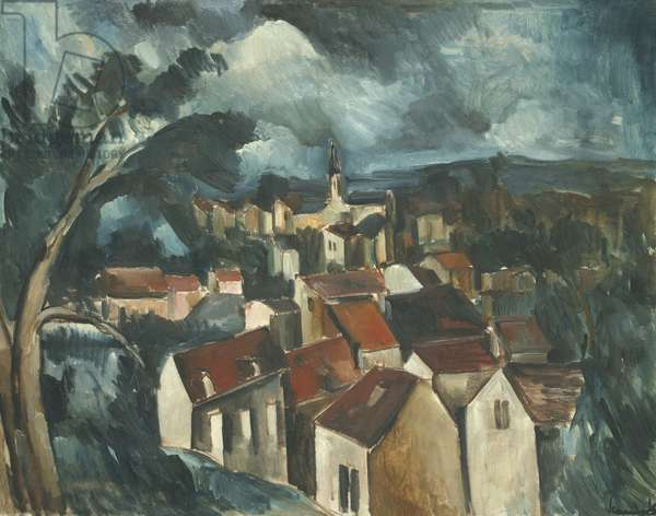 Village, c.1912 (oil on canvas)