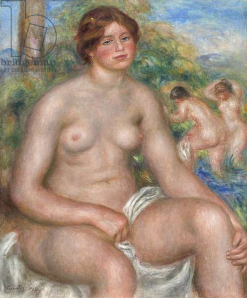 Seated Bather, 1914 (oil on canvas)