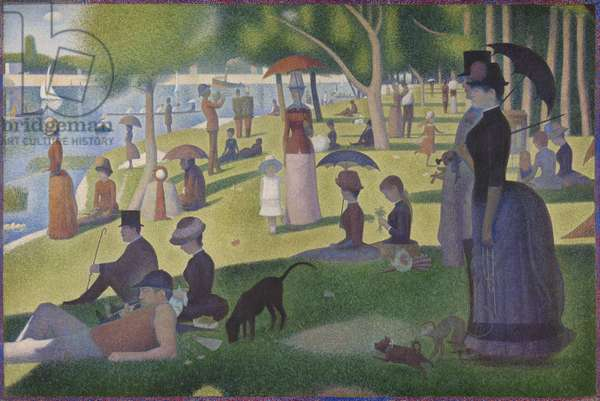 A Sunday on La Grande Jatte, 1884-86 (oil on canvas)
