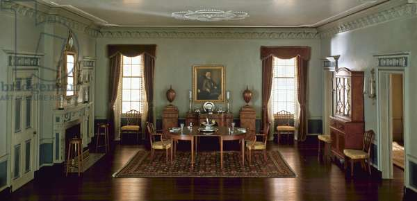 Massachusetts Dining Room, 1795, c.1940 (mixed media)