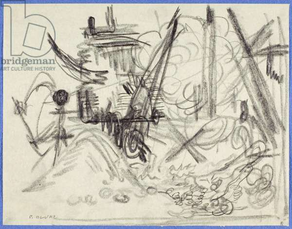 Study for Excavation, c.1943-48 (graphite on paper)