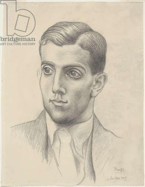 Léonide Massine, 1919 (graphite on paper)