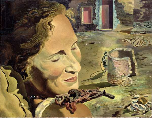 Portrait of Gala Balancing Two Lamb Chops on Her Shoulder, 1933 (oil on canvas)