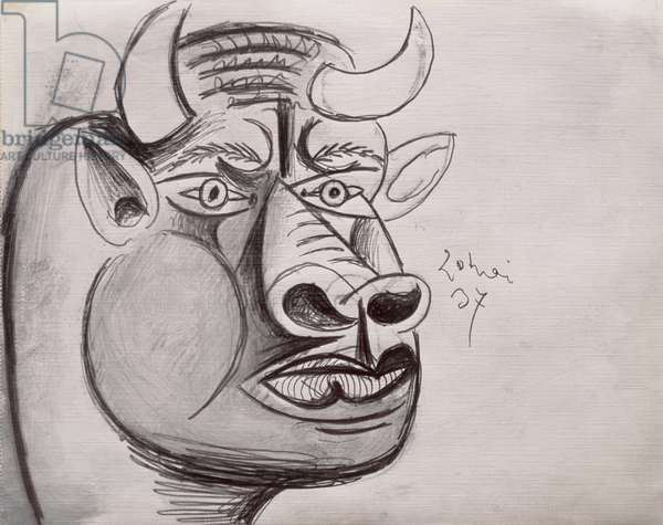 13-0057792/1 Preparatory Drawing for Guernica, 1937 (pencil)
