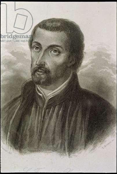 Portrait of St. Francisco Javier (1506-52) (engraving)