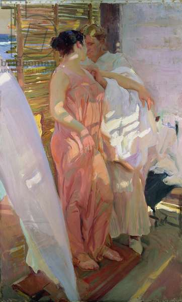 After the Bath, 1916 (oil on canvas)