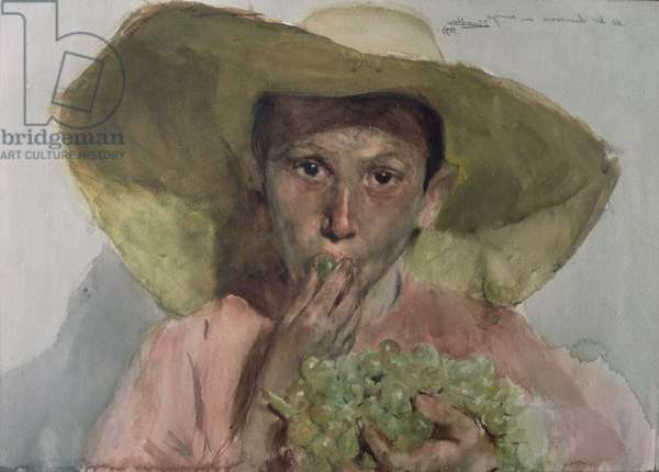 Boy Eating Grapes, 1890 (w/c)