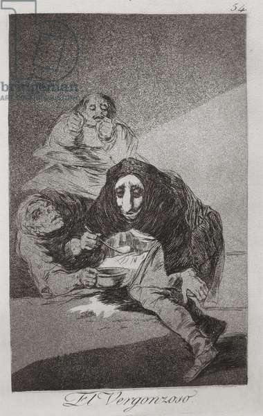 193-0082154 The shamefaced one, plate 54 of 'Los caprichos', 1799 (etching)