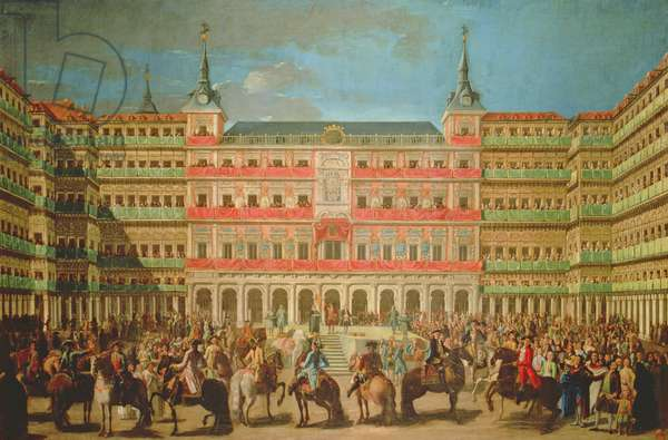 Decoration of the Plaza Mayor for the entrance of Carlos III to Madrid, 1760 (oil on canvas)