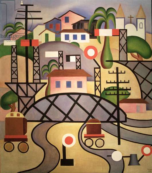 Central Railroad of Brazil, 1924, (oil on canvas)