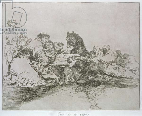 That is the worst of it!, plate 74 of 'The Disasters of War', 1810-14, pub. 1863 (etching)
