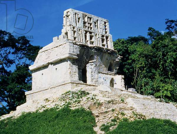 View of the Temple of the Cross, Maya, 7th-8th century (photo)