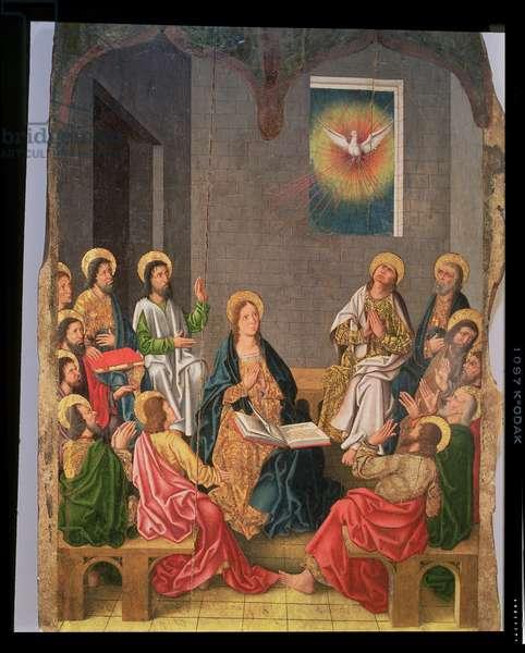 The Pentecost (oil on panel)