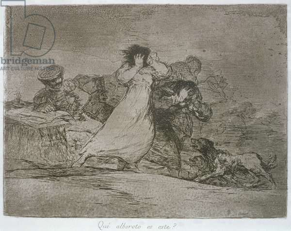 What is this hubbub?, plate 65 of 'The Disasters of War', 1810-14, pub. 1863 (etching)