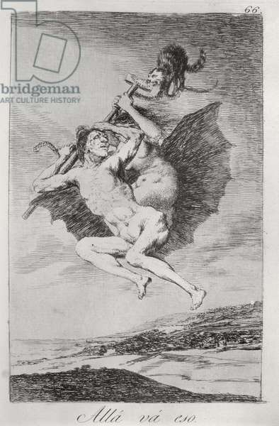 193-0082166 There it goes, plate 66 of 'Los caprichos', 1799 (etching)