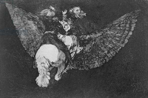Winged nonsense, plate 5 of 'Proverbs', 1819-23, pub. 1864 (etching)