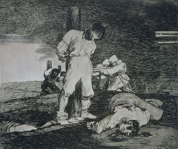 And there's no help for it, plate 15 of 'The Disasters of War', 1810-14, pub. 1863 (etching)
