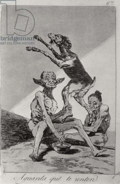 193-0082167 Wait till you've been anointed, plate 67 of 'Los caprichos', 1799 (etching)