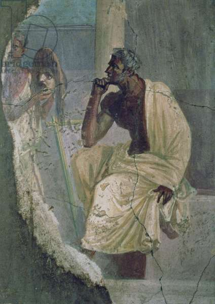 Actor and Mask, from the House of the Tragic Poet, 1st century BC (fresco)