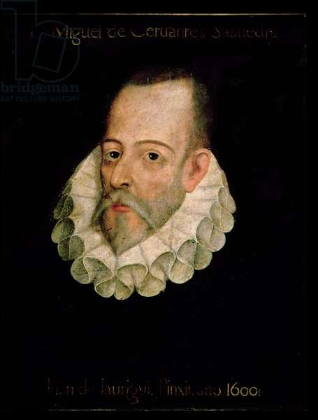 Portrait of Miguel de Cervantes y Saavedra (1547-1615) 1600 (oil on panel)
