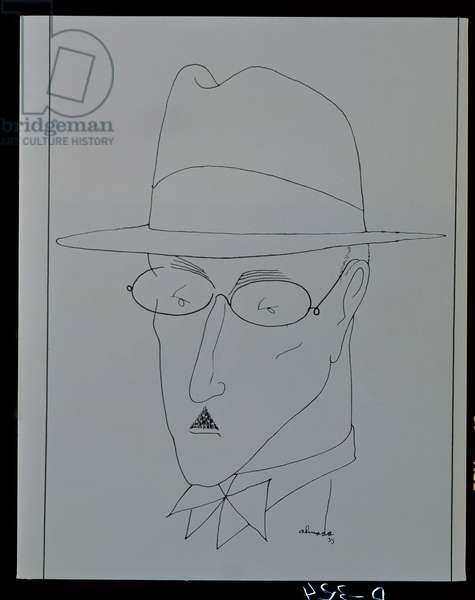 Portrait of Fernando Pessoa (1888-1935) 1935 (pen and ink on paper)