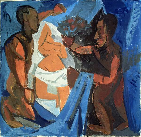 The Offering, 1908 (gouache on paper)