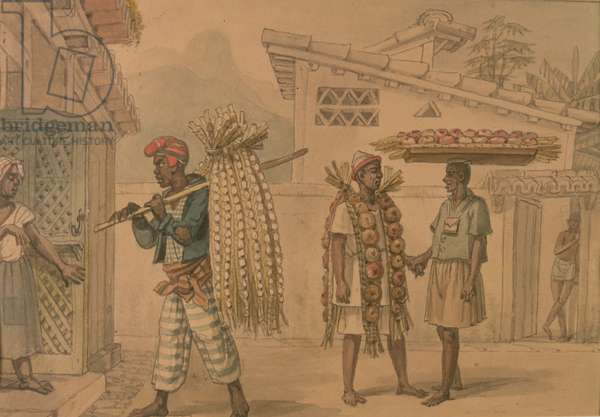 Garlic and Onion Sellers, 1826 (w/c on paper)