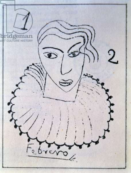 Drawing to Illustrate One of his Own Poems, made in Buenos Aires, probably 1929-30 (pen and ink on paper)