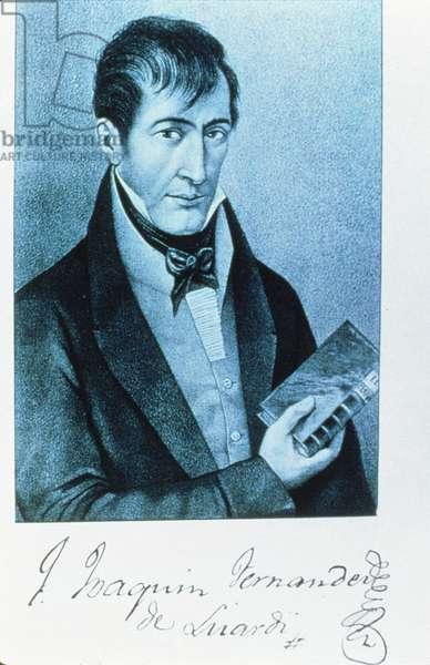 Jose Joaquin Fernandez de Lizardi (1776-1827) (litho)