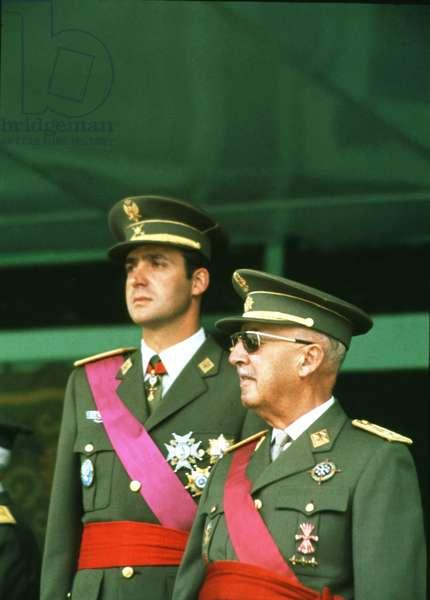 Francisco Franco together with D. Juan Carlos I, 1974
