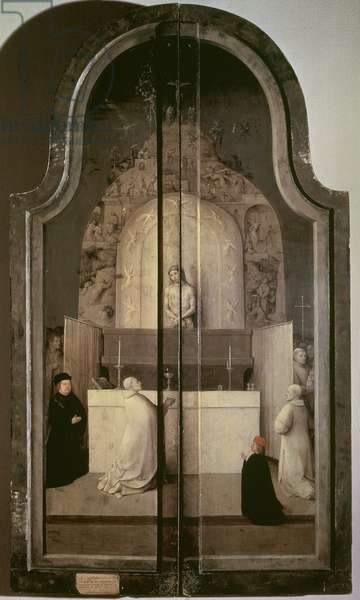 102-0002834/1 The Legend of the Mass of St. Gregory, (closed outside panels of the Adoration of the Magi altarpiece), c.1510 (panel)