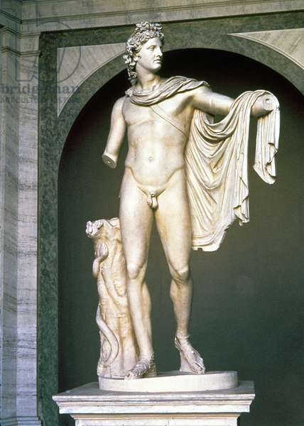 The Apollo Belvedere, Roman copy, probably of a Greek original 4th (or 1st) century BC (marble)
