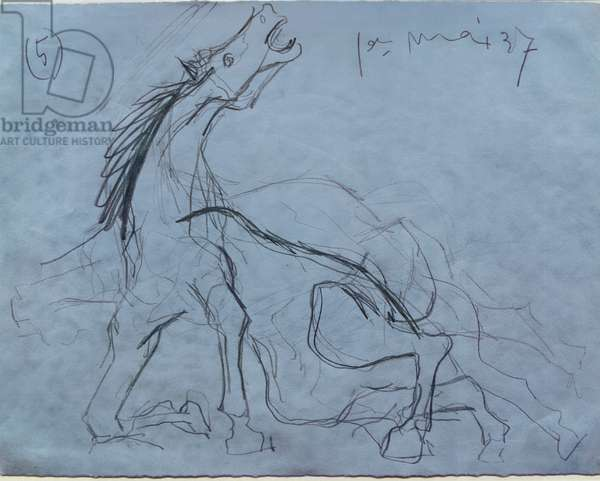 131-0057791/1 Preparatory Drawing for Guernica, 1937 (pencil)