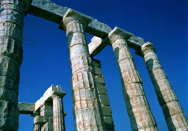 Doric columns, Temple of Poseidon, 440 BC (photo)