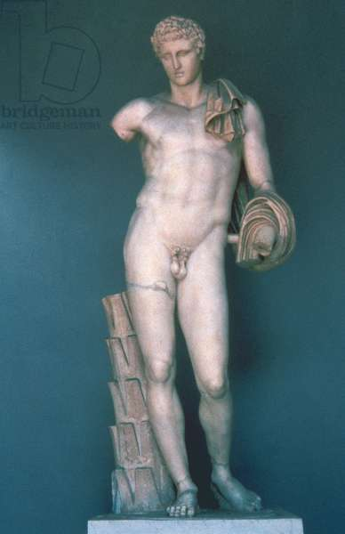 Hermes, Roman copy of a Greek original of the 4th century BC by Praxiteles, 1st century (marble)