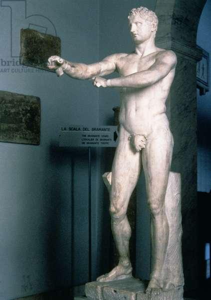 Apoxyomenos, Roman copy of a Greek original of c.330 BC, 1st century (marble)