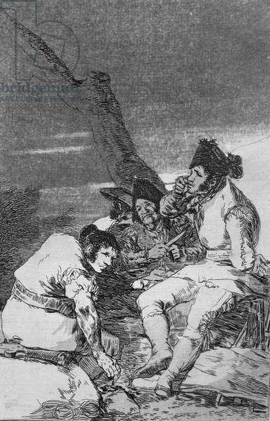193-0082111 Lads making ready, plate 11 of 'Los caprichos', pub. 1799 (etching)