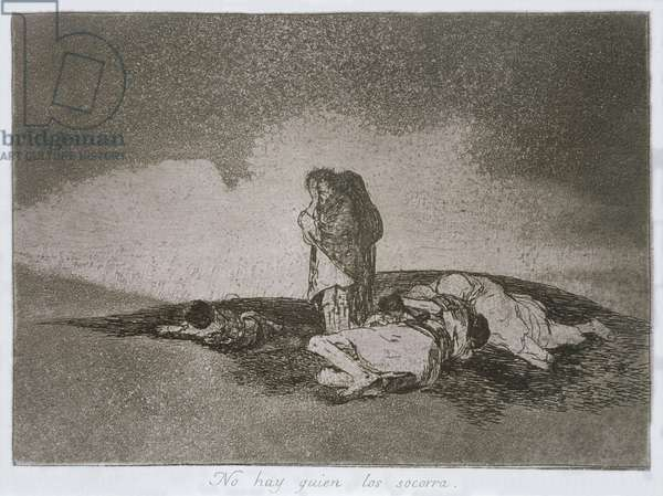 There is no-one to help them, plate 60 of 'The Disasters of War', 1810-14, pub. 1863 (etching)