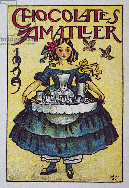 Poster advertising Amatller Chocolates, 1929 (colour litho)