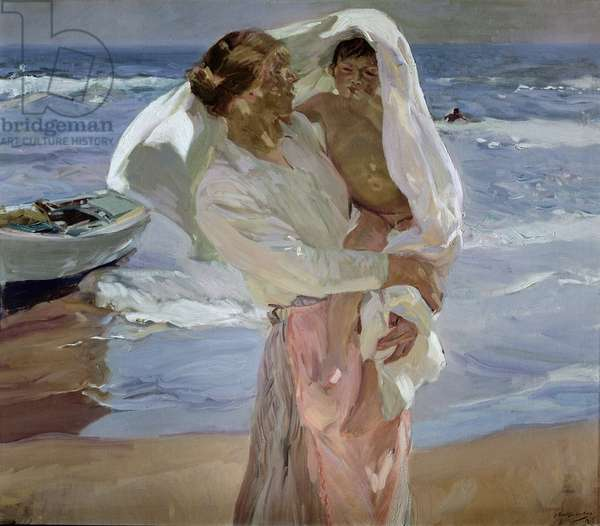 Just Out of the Sea, 1915 (oil on canvas)