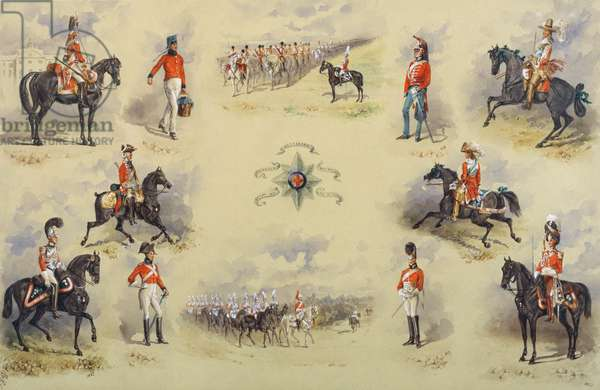 Uniforms of the 2nd Life Guards, 1884 (w/c on paper)