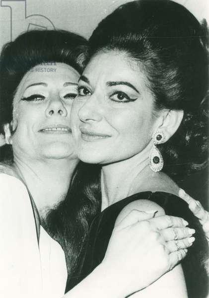 Maria Callas et Renata Tebaldi