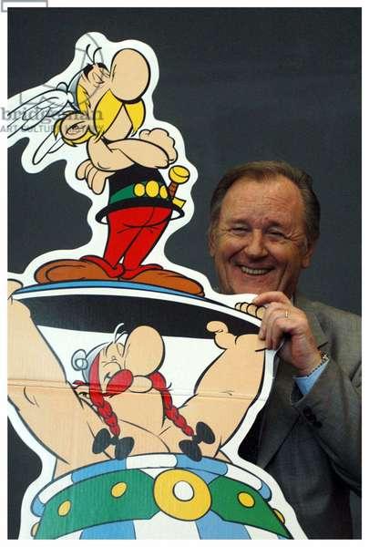 Portrait of Albert Uderzo, French cartoonist and author of Italian comics. October 2005.