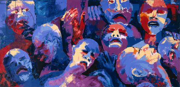 Untitled II - African Aids Epidemic, 1991 (oil on board)