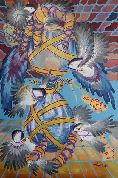 Egg Timer, 2015 (oil on canvas)