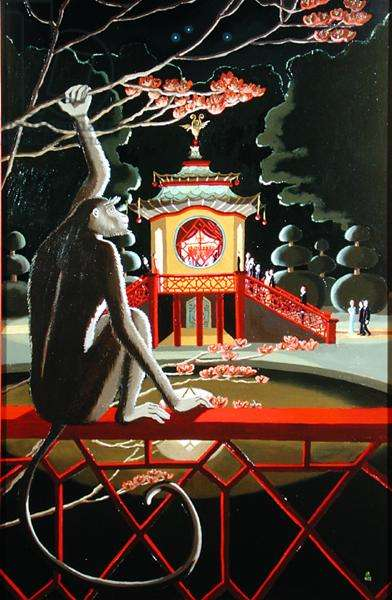 A Musical Evening in the Chinese Pavilion, 2002 (oil on canvas)